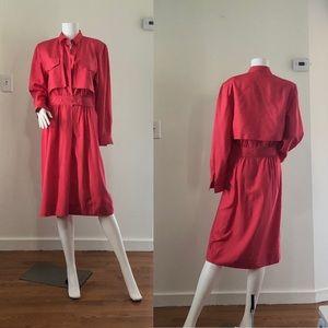 Dresses & Skirts - VTG 80'0's sTyle Silk Dress• L